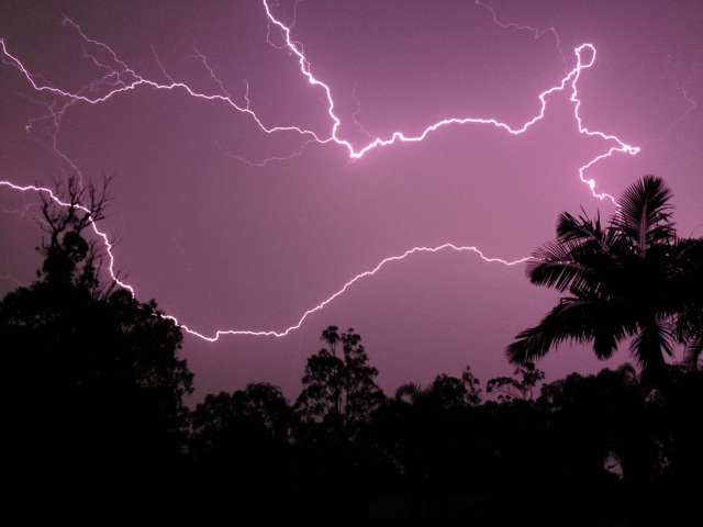 Lightning storm in SE Qld