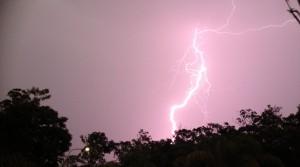 Intense lightning storm
